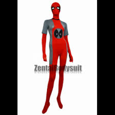 rose red and black deadpool costume zentai suit