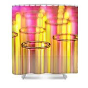 Clinical Laboratory Science Shower Curtains Clinical Laboratory Laboratory Test Tubes In Science Research Lab Photograph By