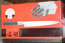 Kershaw Kitchen Knives Kershaw Shun Wasabi Black 8 Piece Knife Block Set Nib Free Ship