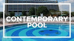 disney u0027s contemporary resort pool youtube