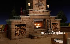 Patio Fireplace Kit by Outdoor Fireplaces U0026 Kitchens Bars U0026 Grills Fire Rings Tables