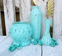 Light Turquoise Paint by Creative Idea Turquoise Paint Dipped Glass Vases Room