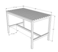 Wooden Kitchen Table Plans Free by Ana White Harriet Outdoor Dining Table For Small Spaces Diy