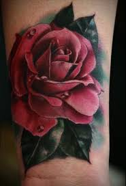awesome realistic rose tattoo on wrist golfian com