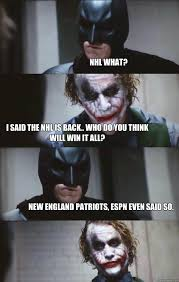 I Will Win Meme - nhl what i said the nhl is back who do you think will win it all
