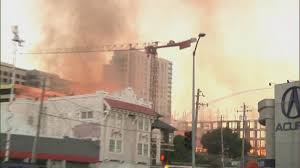 Wild Fires Near Merritt by Watch Witness Accounts Of Massive Oakland Construction Fire