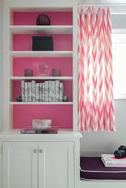 Pink Chevron Curtains Pink And Purple Bedroom With Pink Chevron Window Seat