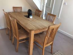 6 seater oak dining room table for sale due to house move into