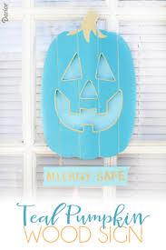 teal pumpkin project wood sign diy darice