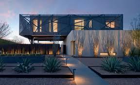 modern house in the desert full of dramatic art design milk