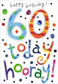 60 Birthday Cards Happy 60th Birthday Card