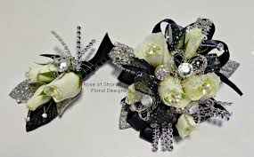 homecoming corsage silver boutonniere and corsage package flowers collection