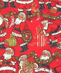 vintage wrapping paper claus christmas wrapping by sandycreekcollectables on zibbet