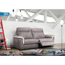canapé gris simili cuir relax design en simili cuir coloris gris clair