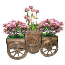 Outdoor Planter Ideas by Wooden Garden Decorations Wooden Garden Planter Wooden Garden