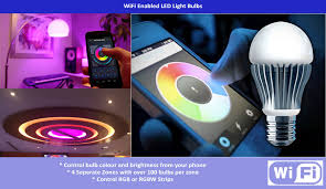 wifi enabled light bulb wifi led light bulbs phone controlled lighting