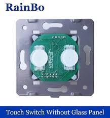 touch screen wall light switch rainbo touch switch diy parts manufacturer wall switch eu 2gang1way