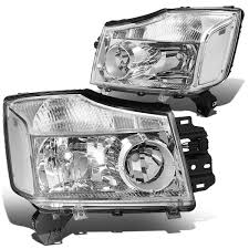 nissan armada lowering kit 15 nissan titan 05 07 armada crstal headlights chrome clear
