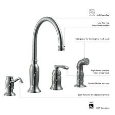 single lever kitchen faucet design house single handle kitchen faucet with sprayer and