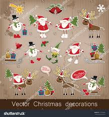 new year set vector decorative stock vector 117350362