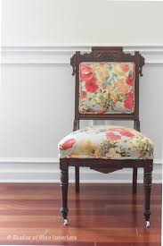 makeover monday eastlake chair with floral fabric good stuff