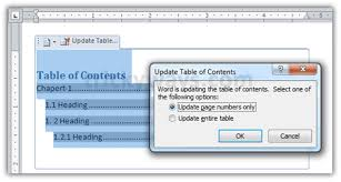 create table of contents in word how to create table of contents in word 2007 2010 office