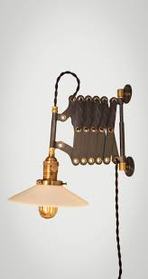 Vintage Industrial Wall Sconce Vintage Industrial Scissor Light Expandable Accordion Swing Arm