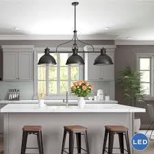 3 Light Pendant Island Kitchen Lighting | 3 light kitchen island pendant lighting fixture home decoration