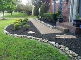 Rocks For Garden Edging River Rock Garden Edging Ideas