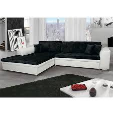 canape angle noir et blanc meuble de salon canapé canapé d angle noir blanc sofamobili