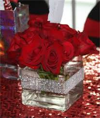 New York Themed Centerpieces by Elegant Sweet 16 Centerpieces Centerpiece Red Roses Created For