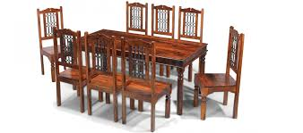 Dining Room Sets 8 Chairs Jali Sheesham 180 Cm Thakat Dining Table And 8 Chairs Quercus Living