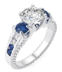 sterling engagement rings images Sapphire blue cz engagement ring in sterling silver laraso co jpg