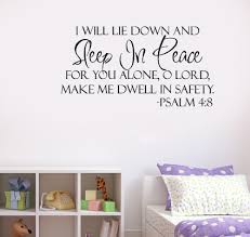 scripture wall decals for home color the walls of your house scripture wall decals for home art bible verses sleep in peace wall art bible