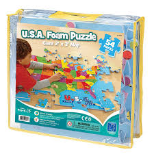 Map Of United States And Capitals by Amazon Com Educational Insights U S A Foam Map Puzzle Toys U0026 Games