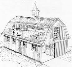 Gambrel Roof Barns Gambrel Style Wood Barn Kit Post And Beam Barn Kit Barn
