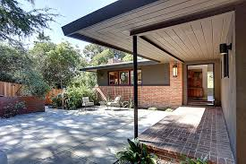 Mid Century Modern Ranch Cal Modern Ranch Entry Courtyard Midcentury Entry San