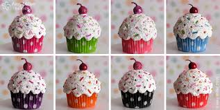 cupcake ornaments cupcake ornaments in 8 polka dot co