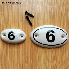 9pcs number ceramic kitchen cabinet drawer knobs porcelain kids