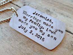 Wedding Gift Necklace Love Made You My Son Blended Family Gift Blended Family Wedding