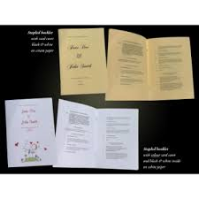 Wedding Booklets Wedding Mass Booklet Printing By Reads In Dublin