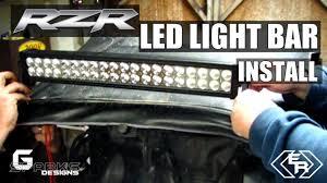 40 led light bar mounting on polaris rzr garage edition season