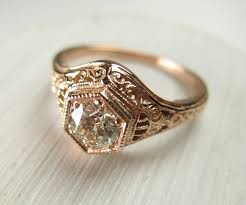 vintage rose rings images Custom vintage rose gold diamond wedding ring spexton custom jewelry png