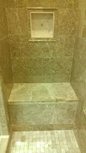 Bathroom Bench Ideas by Shower Niche Tile Ideas Travertine With A And Bench Arafen