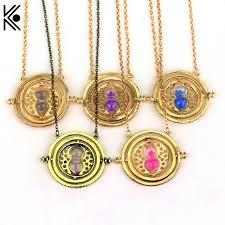 hermione necklace images Gryffindor time turner necklace hermione granger rotating spins jpg