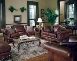 Home Decor Brown Leather Sofa Furniture Modern Leather Sofa By Broyhill Furniture On Wooden