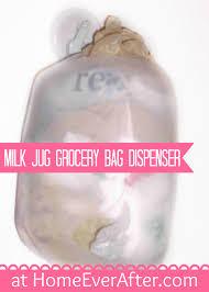 milk jug grocery bag dispenser at home ever after by danelle ice