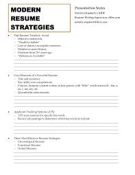 Resume First Person Modern Resume Strategies Handout