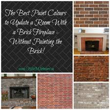 best paint colours to update a room with a brick fireplace