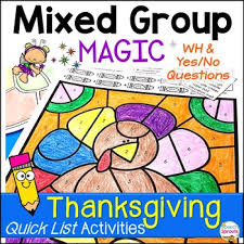 thanksgiving no prep speech therapy activities with yes no wh